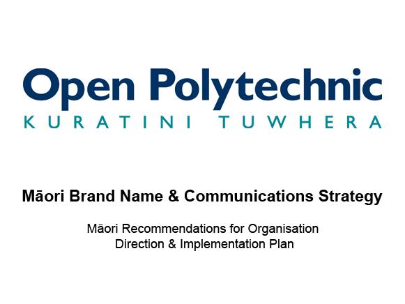 Open-Polytech-Maori-Comm-Strategy